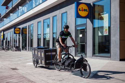 Lidl levert boodschappen met de fiets aan huis in Gent