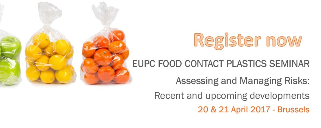 Registrations now open: Food Contact Plastics Seminar 2017