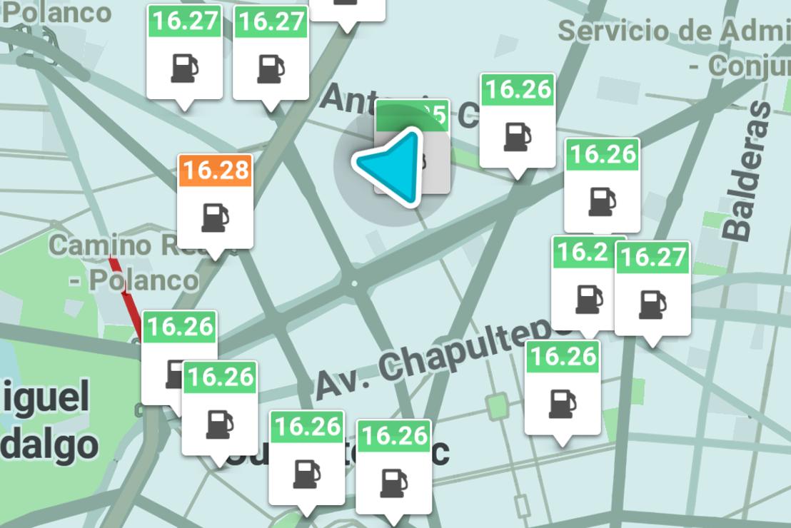 Waze muestra los precios de las gasolinas