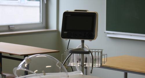 Diëtist-studenten leren wat zuurstofverbruik vertelt over de patiënt