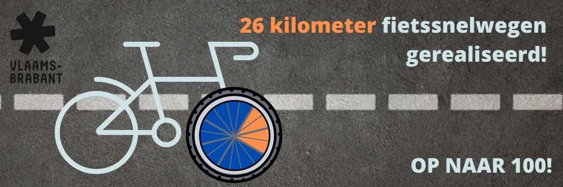 26 kilometer nieuwe fietssnelwegen aangelegd