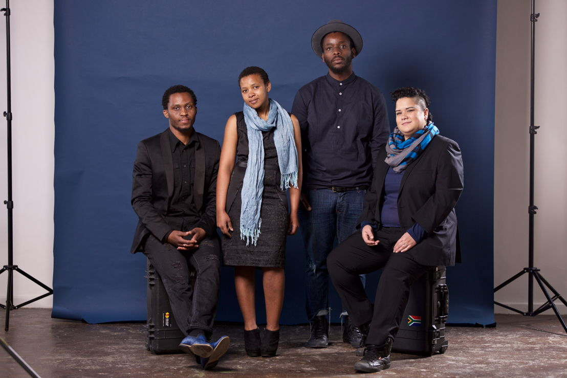 2016 Standard Bank Young Artist Awards winners - L-R Themba Mbuli, Siya Mvuli, Mohau Modisakeng, Jade Bowers, (absent: Avigail Bushakevitz) - image credit Simon Diener