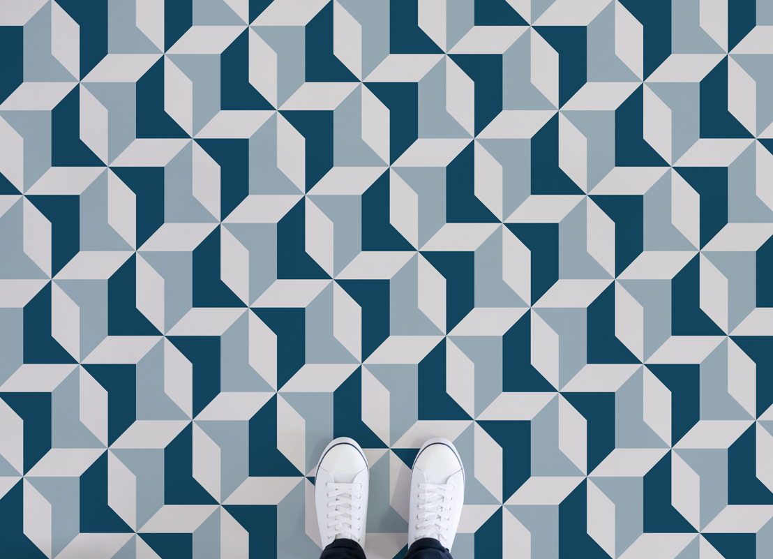 Kensington | Retro Geometric Pattern Flooring