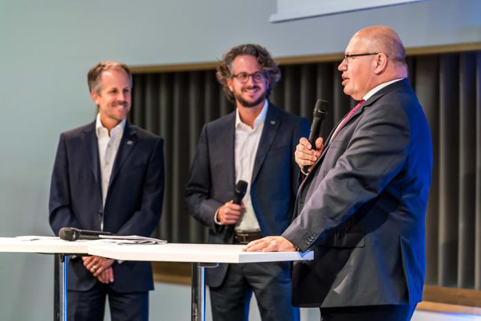 Auftakt der Mittelstandsreise von Peter Altmaier bei Sennheiser