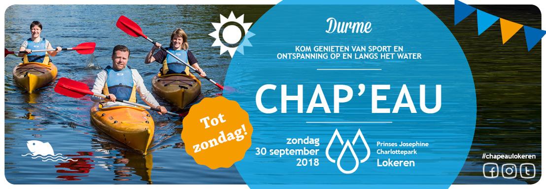 1.100 mensen zeggen zondag 30 september Chap'eau voor propere waterlopen