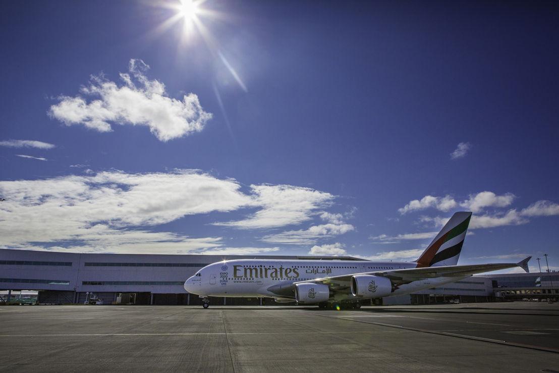Emirates direct flight lands in Auckland
