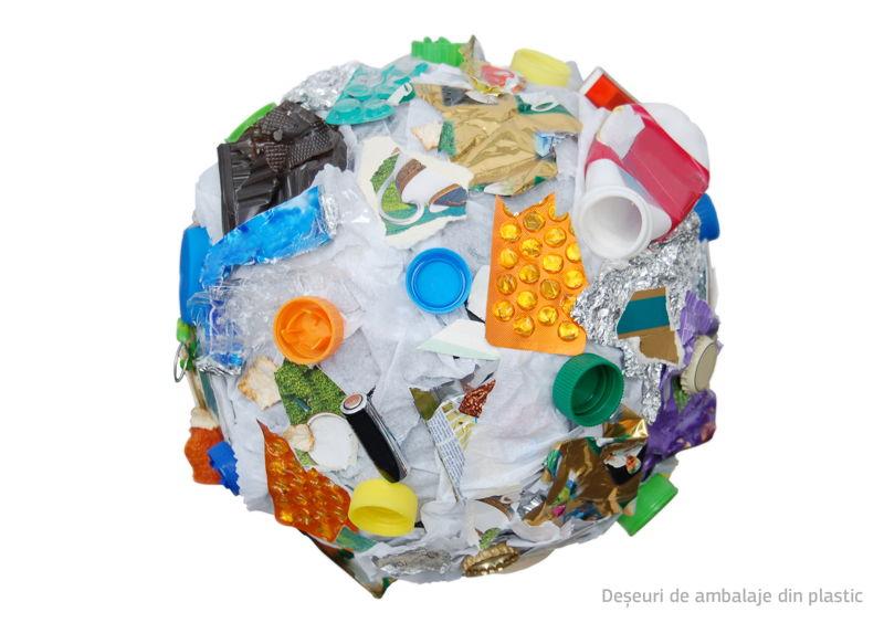 Deșeuri de ambalaje din plastic