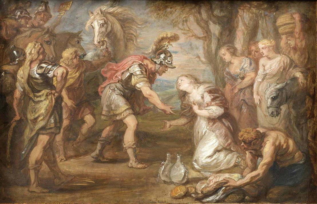 Hoecke, Jan van den (painterschilder), David en Abigail, Collectie Stad Antwerpen, privé-persoon