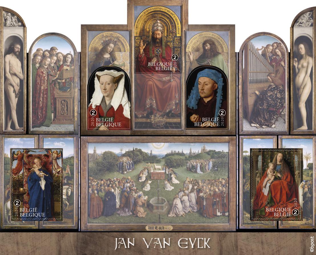 bpost fête l'année Van Eyck avec une émission de timbres-poste unique représentant l'Agneau mystique