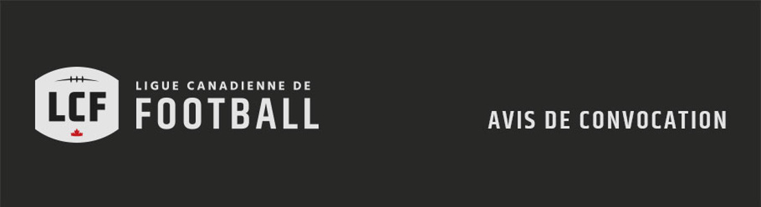 Avis de convocation : Arrivée officielle de la Coupe Grey