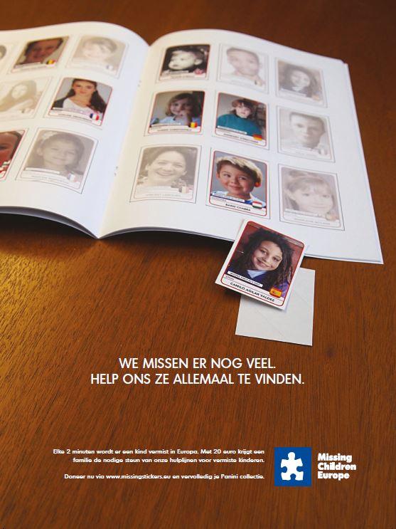 Preview: Leo Burnett Brussels helpt je met je zoektocht naar Panini stickers, als jij Missing Children Europe helpt met hun zoektocht naar vermiste kinderen.