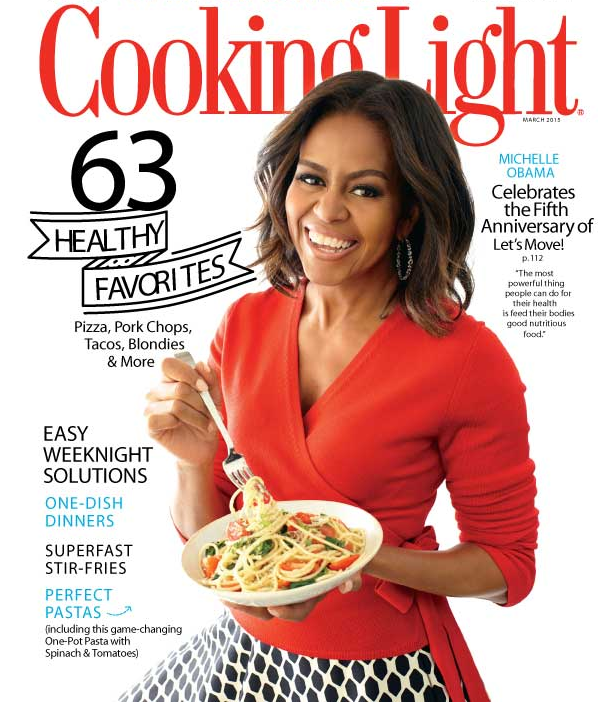 Cover Michelle Obama Cooking Light
