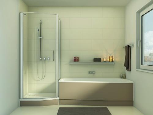 Duscholux à Batibouw (part I) : des solutions pour les petites salles de bain