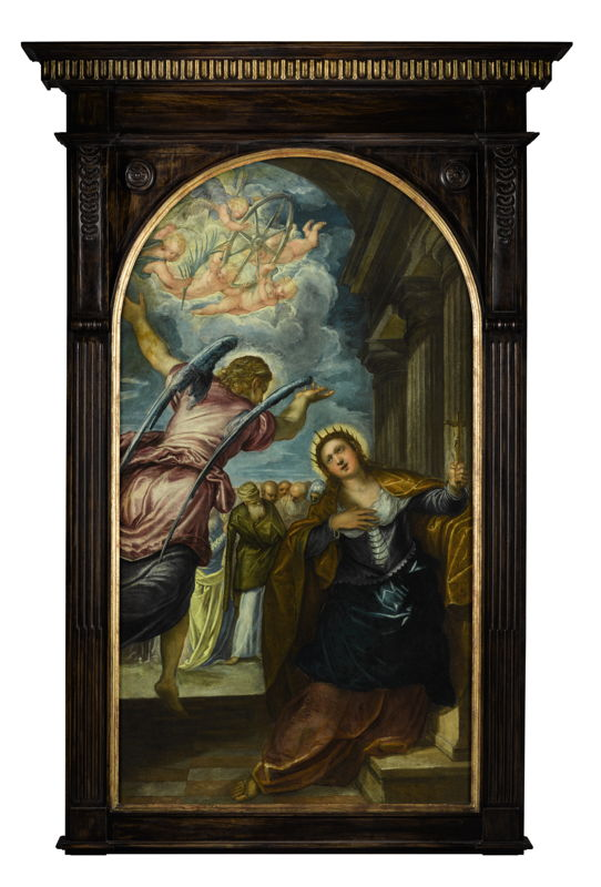 Lot 38 Tintoretto The Angel Foretelling St  Catherine of Alexandria of Her Martyrdom - photo credit: © Sotheby's