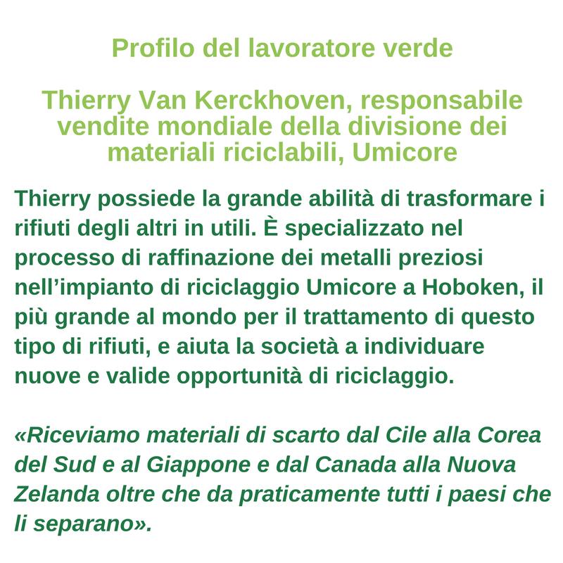 Profilo del lavoratore verde - Thierry van Kerckhoven