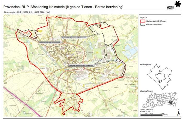 Provincie past plan voor kleinstedelijk gebied van Tienen aan