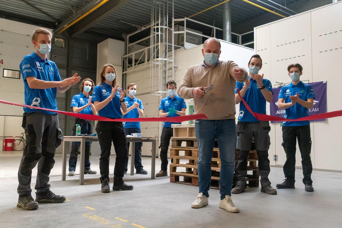 Frank Jansen trapt de bouw van de volgende Belgische zonnewagen af.