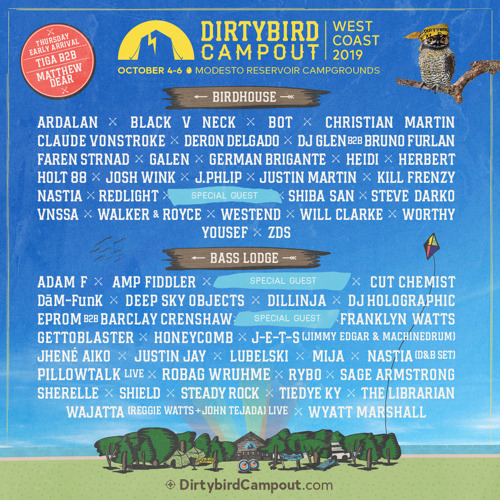 Dirtybird Campout Announces Lineup for 2019 West Coast Event
