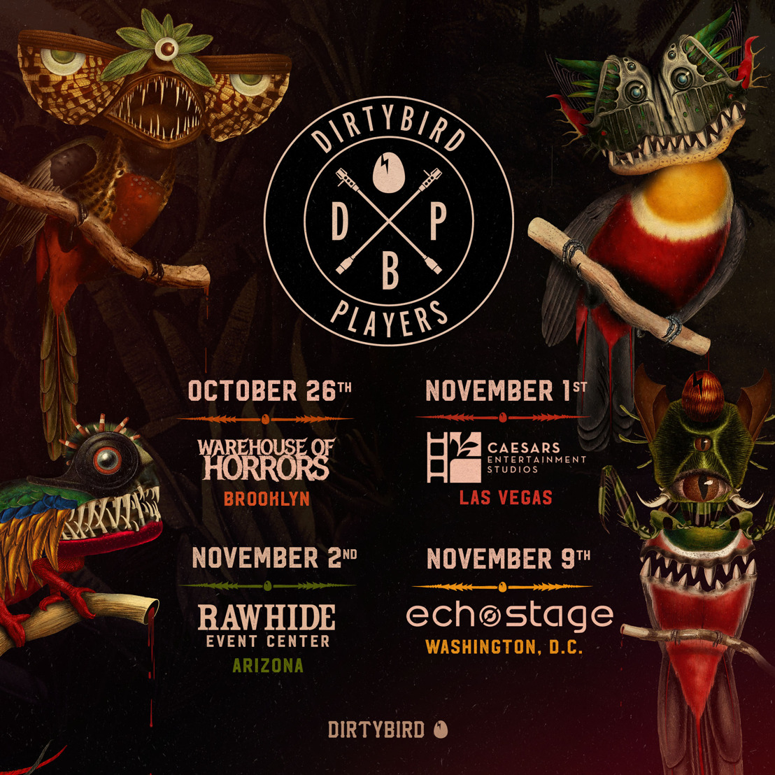 DIRTYBIRD PLAYERS + Phase I Claude VonStroke Fall Tour Announced