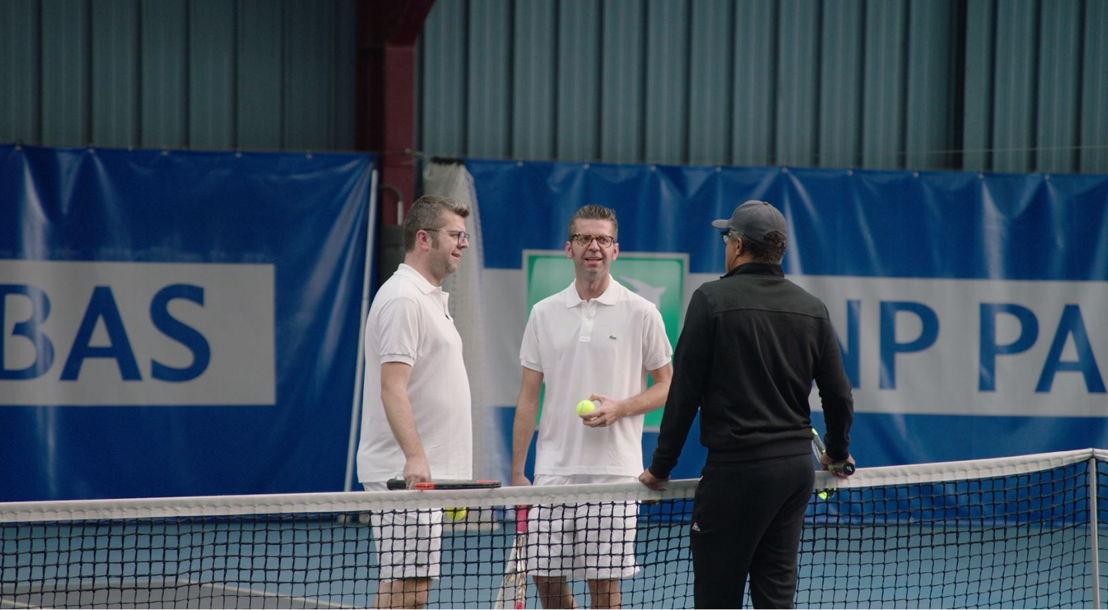 'De bucketlist' in Iedereen beroemd: tenissen tegen Yannick Noah (c) VRT