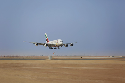 Emirates A380 lands in Riyadh for 88th National Day with one-off flight