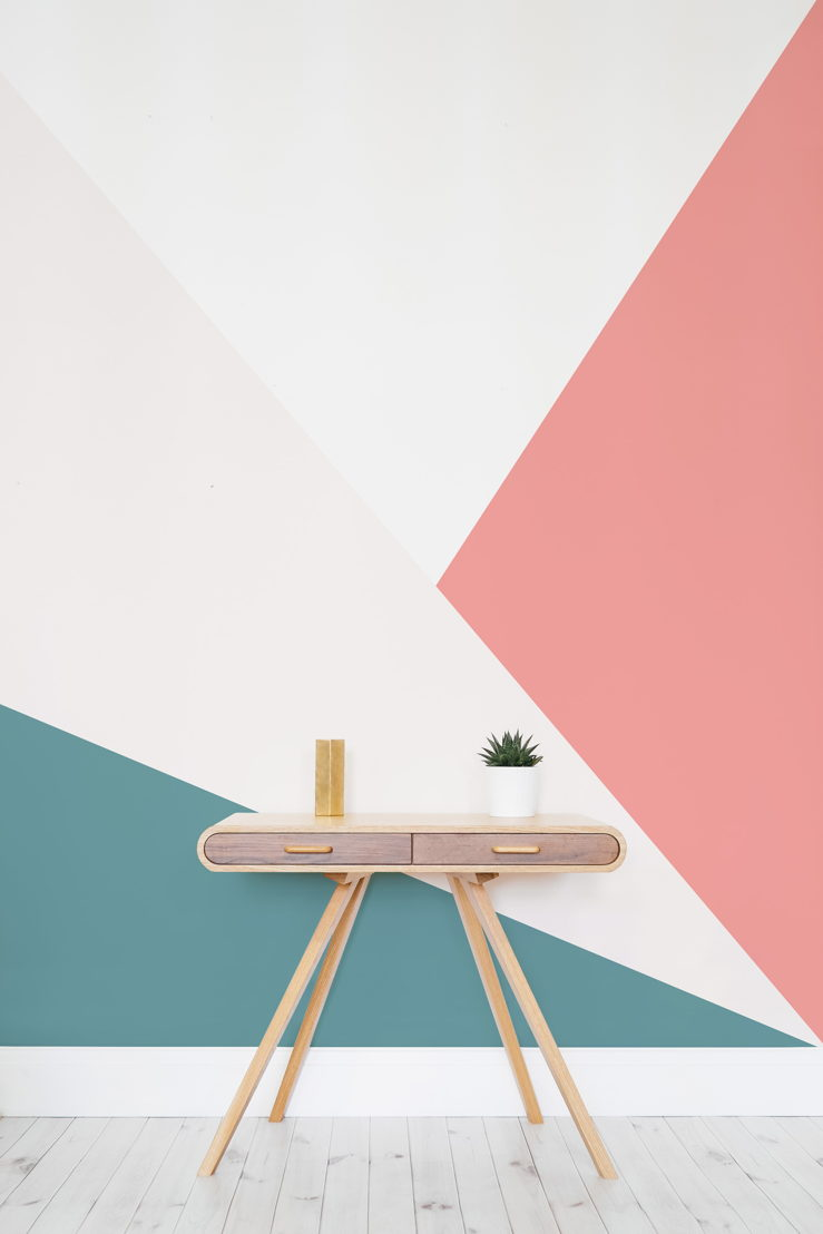 Bright Oversized Geomteric Wall Mural