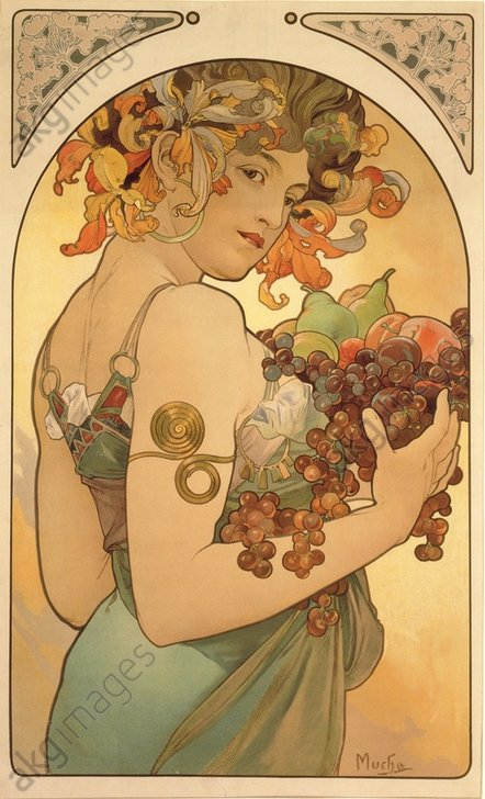 """""""Fruit"""", 1897. (Counterpart to """"Flowers"""").<br/>AKG1006667"""