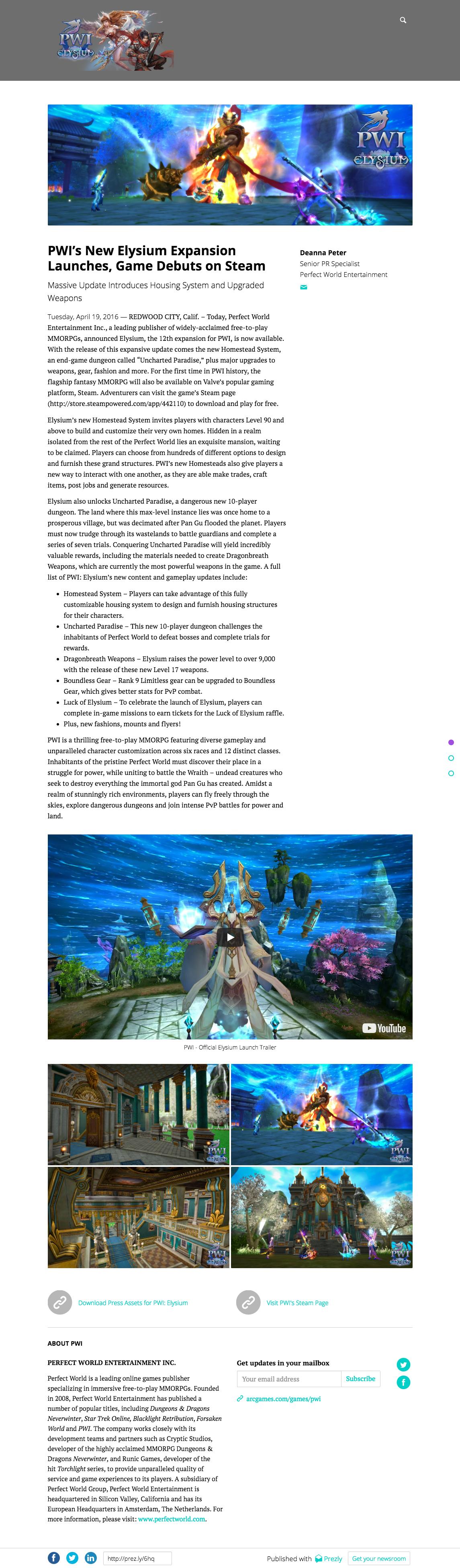 Press release content