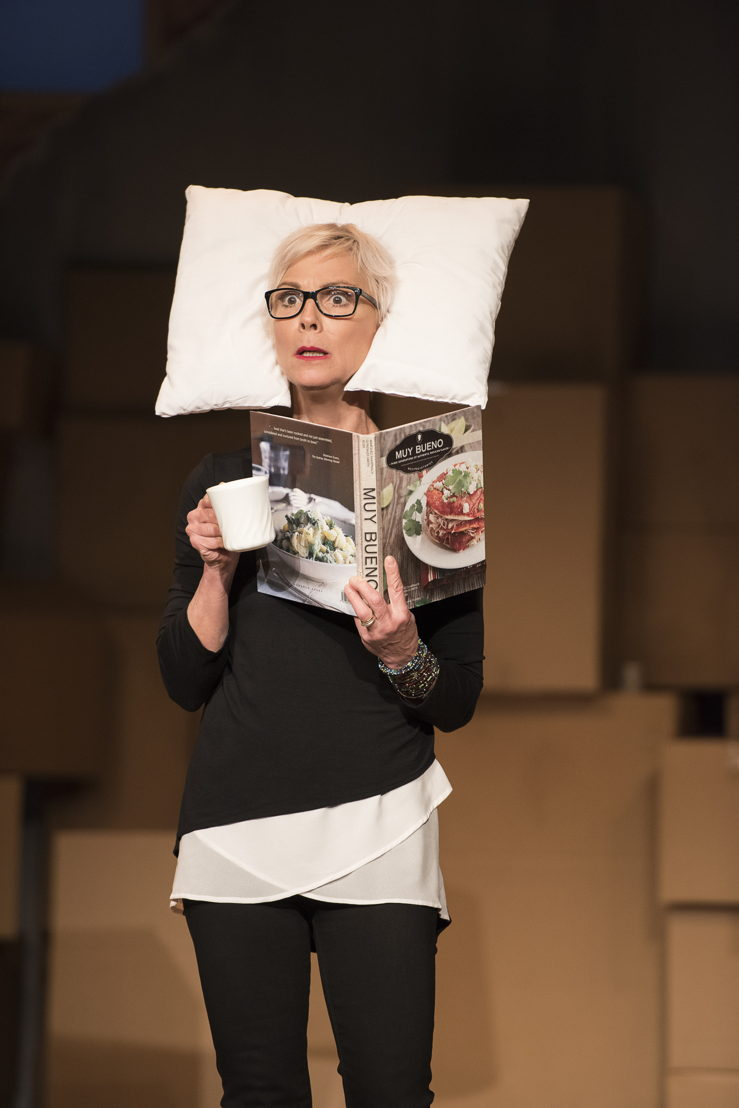 Jill Daum in the 2016 production of Mom's the Word: Nest ½ Empty. Set and costume design by Pam Johnson and lighting design by Marsha Sibthorpe. Photo by Emily Cooper