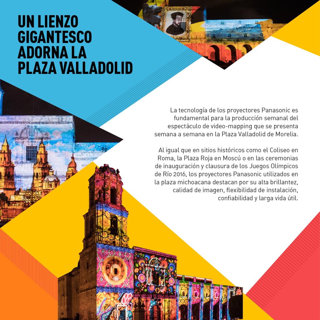 Panasonic mapping en Morelia: Un gran lienzo sobre la Plaza Valladolid