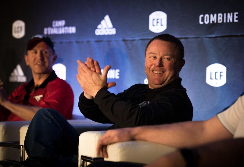 Chris Jones lors de la conférence de presse des opérations football. Crédit : Johany Jutras/LCF