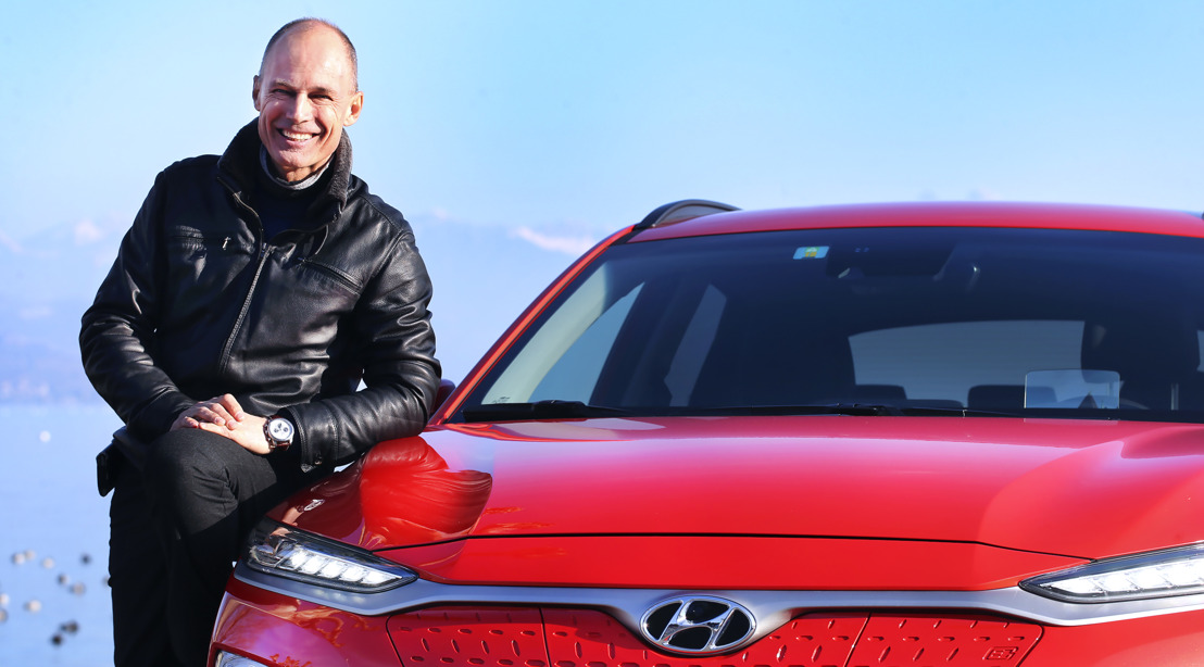Bertrand Piccard roule en All-New Hyundai KONA electric