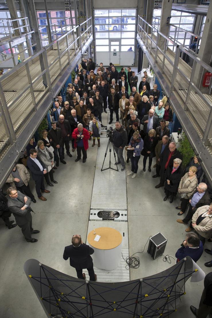 Veel volk op de feestelijke opening van de splinternieuwe stelplaats in Tielt-Winge