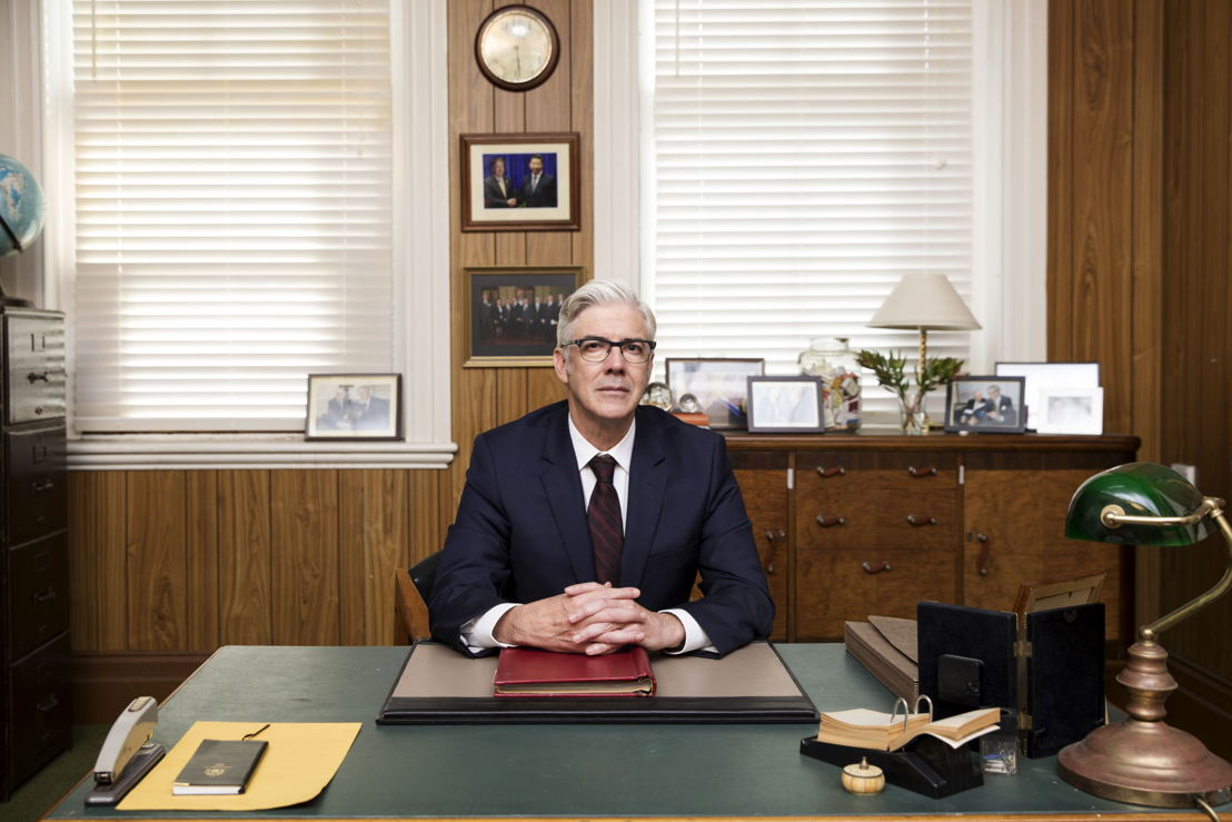Shaun Micallef as Andrew Dugdale in The Ex-PM season 2