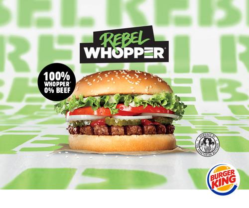 BURGER KING® lanceert zijn 100% plantaardige WHOPPER®