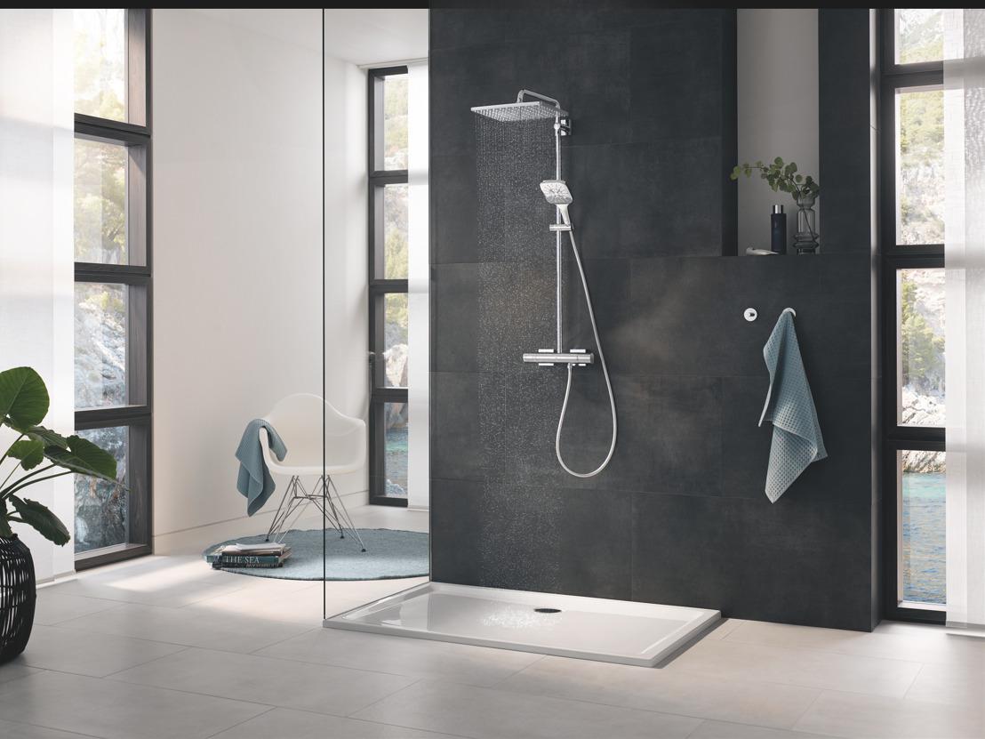 La dernière innovation de GROHE en matière de douche : la douche à main Rainshower SmartActive