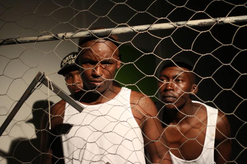 Ubuze Bam with Eric Menyo, Lazola Sikhutshwa and Ntsika Tyalana - credit Sithembele Jnr