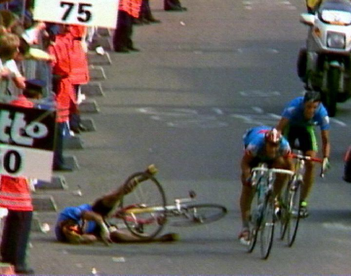 Het spurtincident in Ronse 1988 - in Belga Sport: De vloek van Ronse - (c) VRT