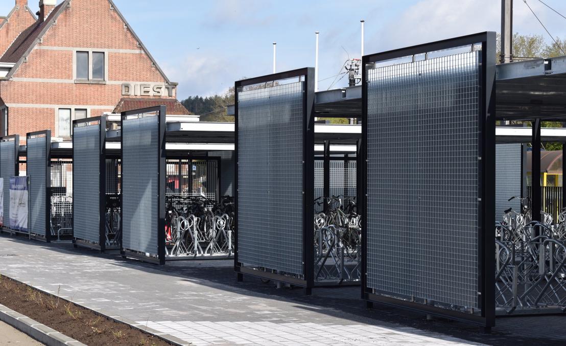 Nieuwe fietsenstalling aan station van Diest