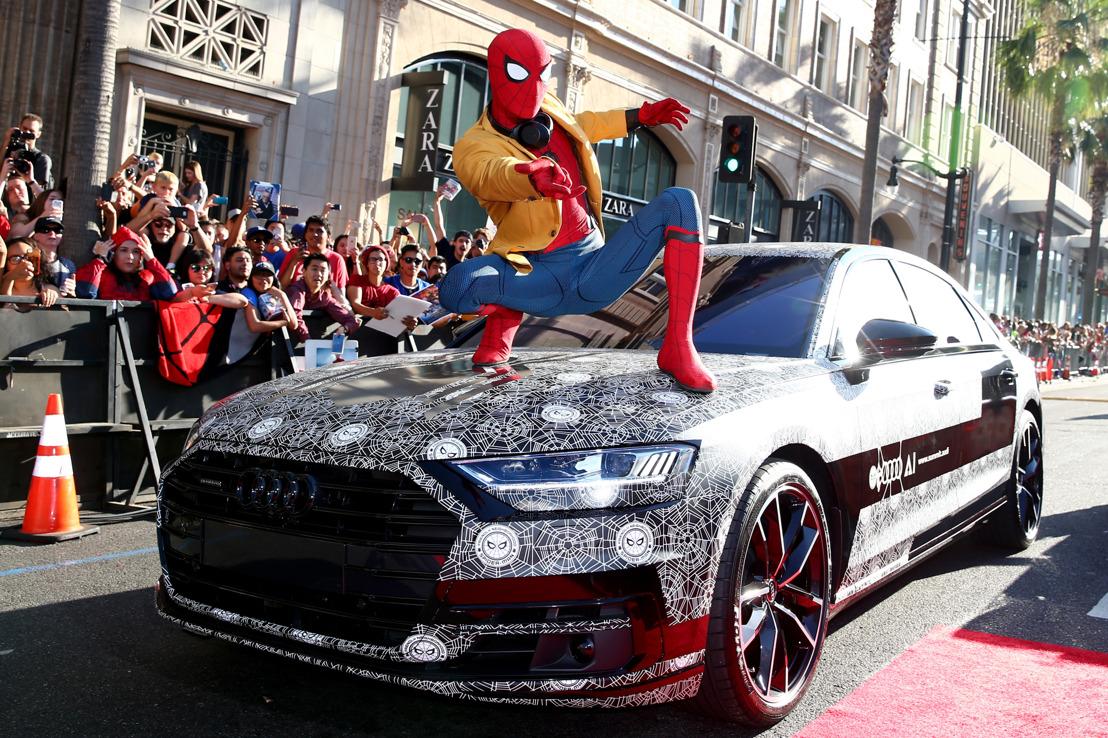 Nouvelle Audi A8 : invitée surprise masquée à la première de Spider-Man : Homecoming