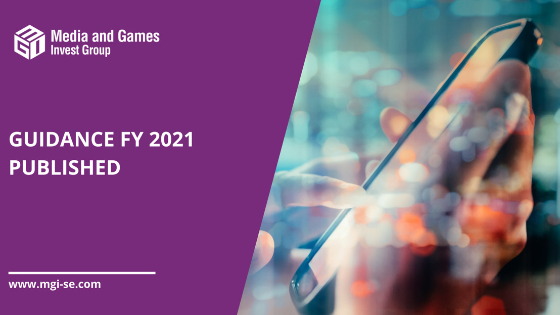 Media and Games Invest publishes guidance FY2021: YoY revenue growth of up to 71% and EBITDA growth of up to 123%, well above its mid-term financial targets due to strong organic growth in H1 2021