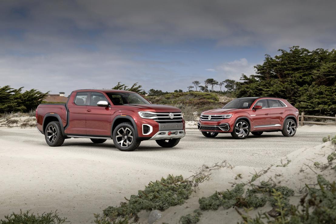 Volkswagen Atlas Cross Sport Concept y Atlas Tanoak Concept en el Monterey Car Week