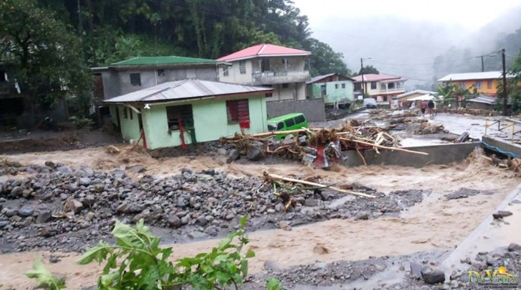 Floodings in St. Kitts and Nevis after hurricane Irma
