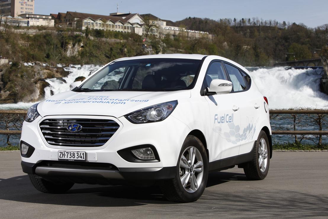 Öffentliche Testfahrten mit dem ersten serienmässigen Wasserstoff-Fahrzeug von Hyundai an der Auto Zürich Car Show