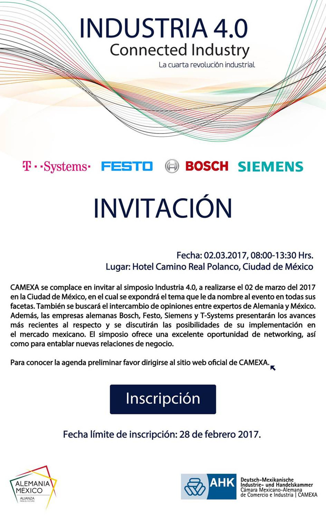 Invitación: Simposio Industria 4.0, Connected Industry.