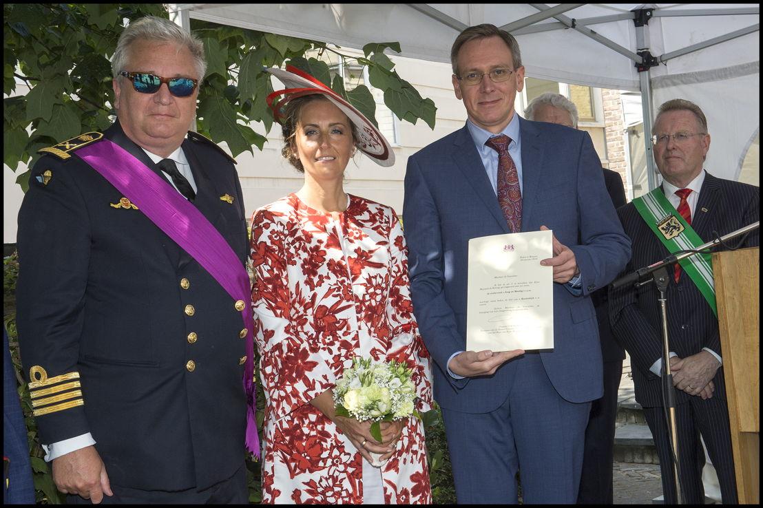 """Koninklijke vzw Wielerclub """"Jong en moedig"""" uit Herzele, voorzitter Bernard Duwyn"""