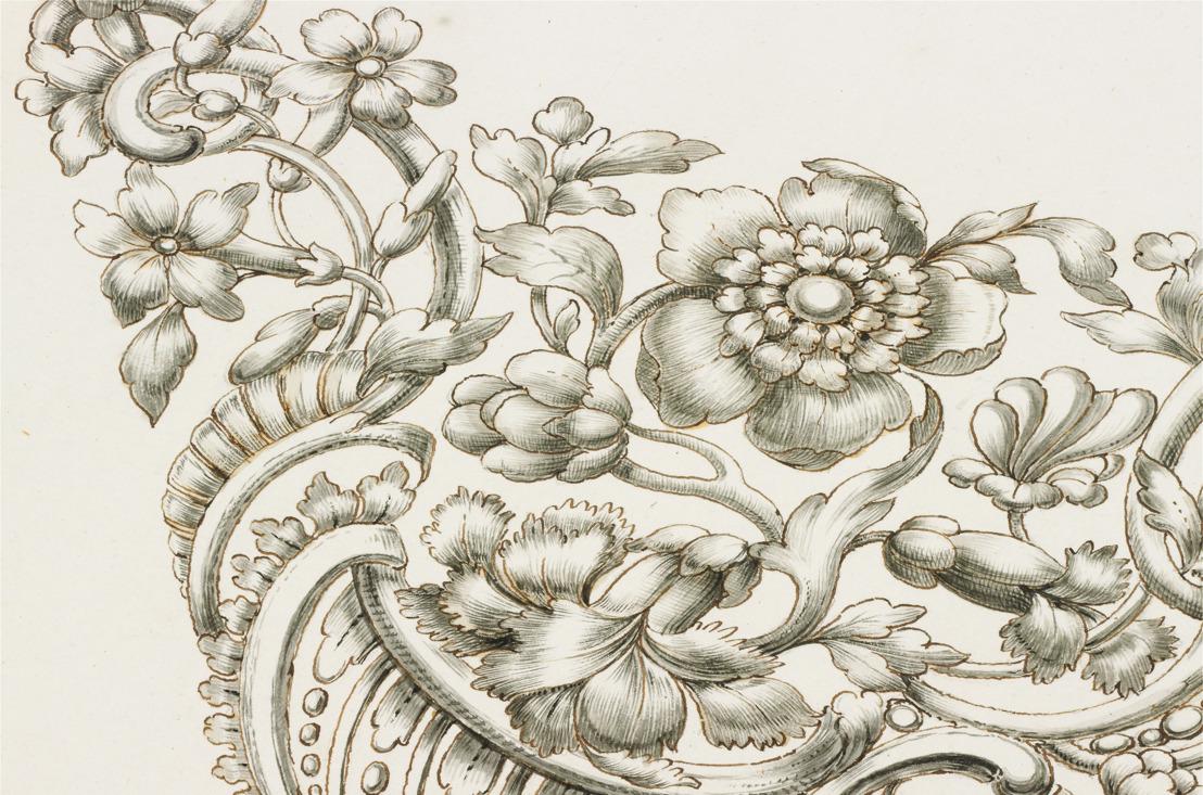 Rare série d'esquisses de bijoux du XVIIIe siècle à DIVA