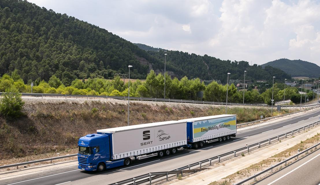 SEAT en Grupo Sesé debuteren met de duo-trailer, de langste en meest efficiënte vrachtwagen op Europese wegen