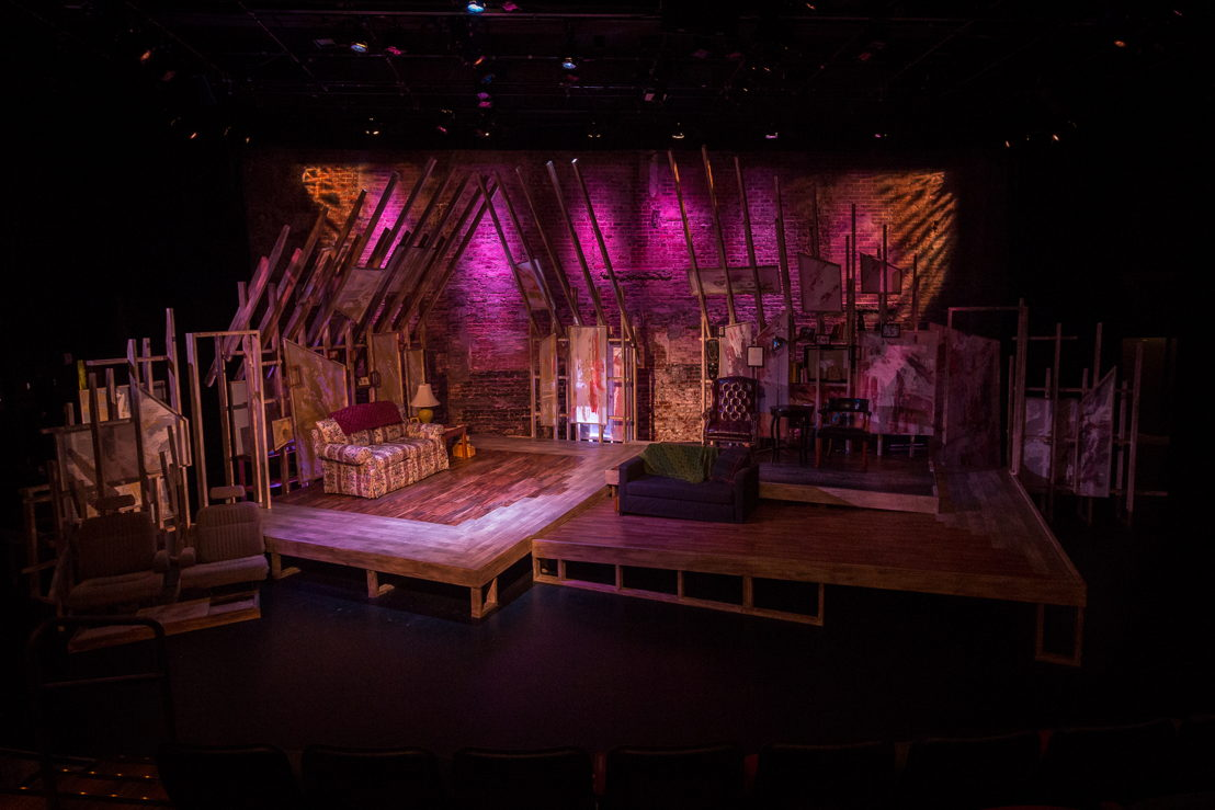 BOY scenic and lighting design at Theatrical Outfit - photo by David Woolf