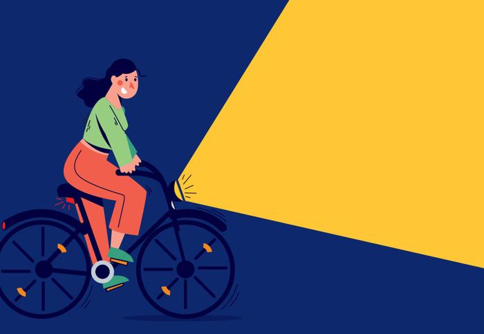 Soyez visible à vélo !